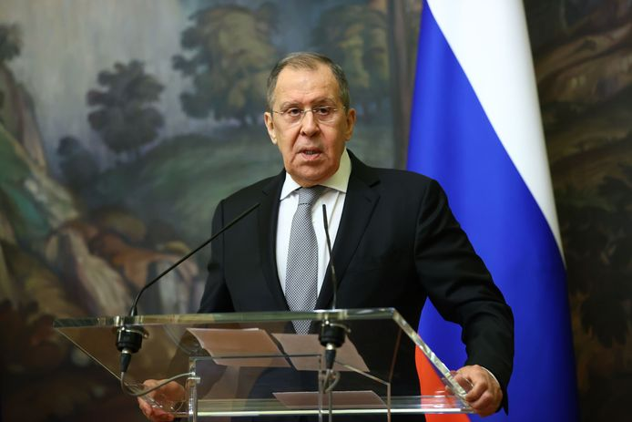 De Russische minister van Buitenlandse Zaken Sergei Lavrov