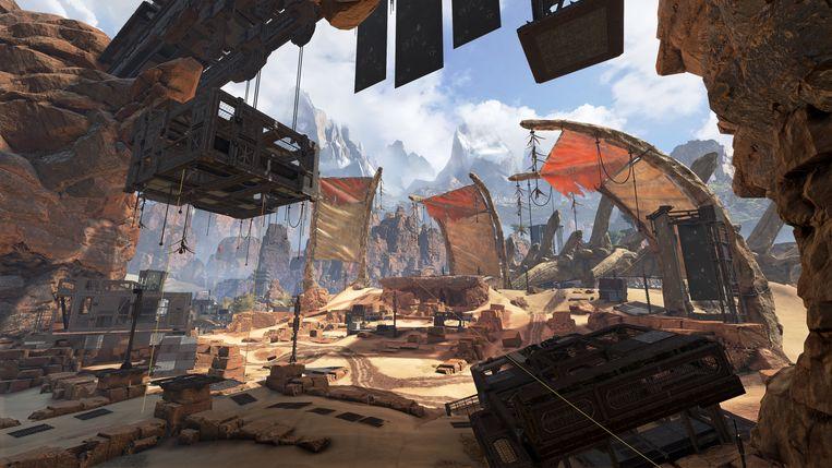 Een van de maps uit 'Apex Legends' of omgevingen waarin de spelers worden gedropt. Beeld Electronic Arts