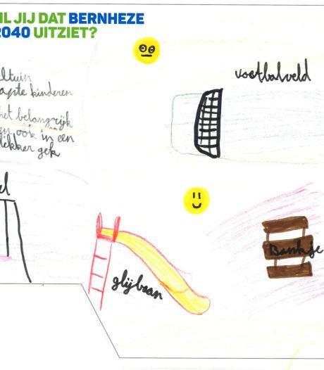 Kinderen denken met tekeningen na over de leefomgeving van de toekomst in Bernheze
