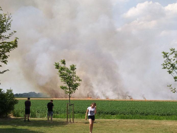 In Ooltgensplaat woedde eerder een brand.