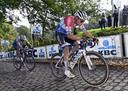 Mathieu van der Poel tijdens Gent-Wevelgem afgelopen zondag.