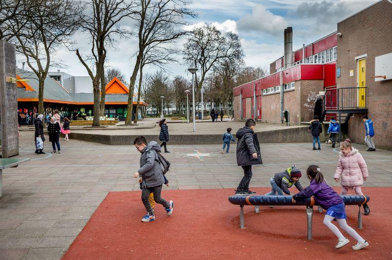 Basisschool in de Banne in Amsterdam-Noord. Beeld Jean-Pierre Jans