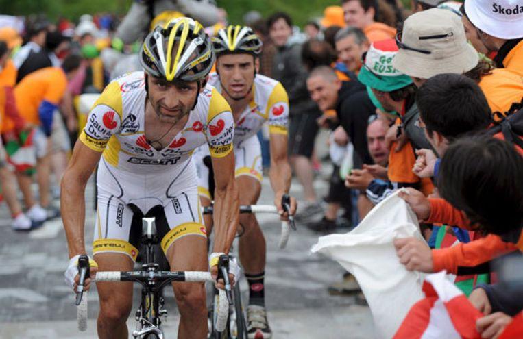 Leonardo Piepoli tijdens de tiende eappe van de Tour. Foto EPA/Bernard Papon Beeld