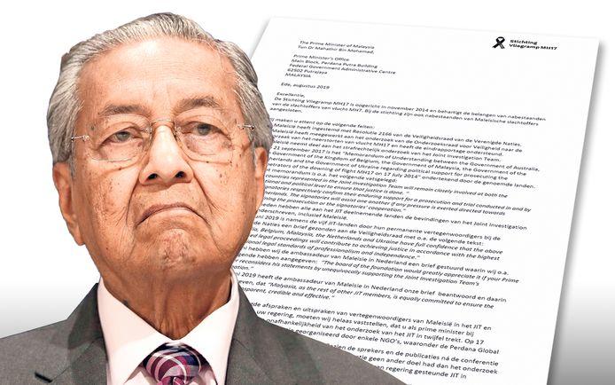 De MH17-nabestaanden hebben een uitgebreide brief aan de Maleisische premier Mahathir Mohamad gestuurd.