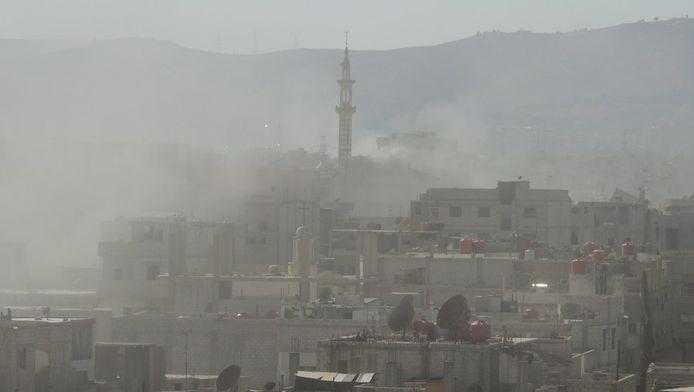 Bombardement chimique présumé sur la banlieue de Damas
