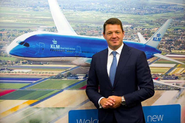 KLM-topman Pieter Elbers: Er worden niet nog meer banen geschrapt. Beeld Reuters