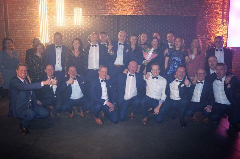 Het team van I-COR won de award Winkelbeleving