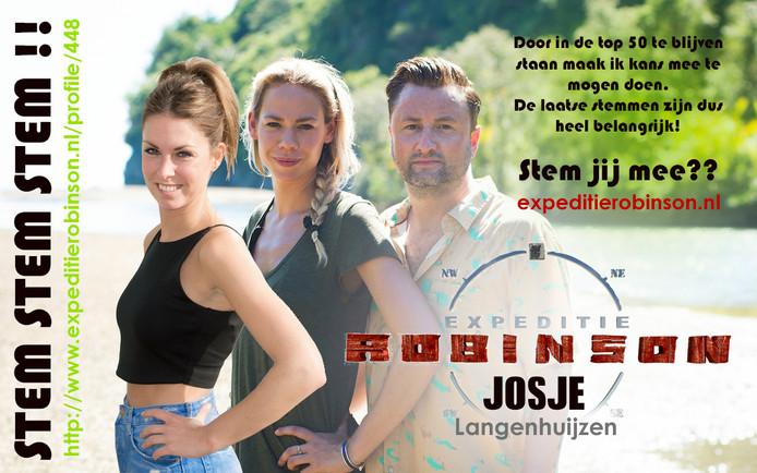 Met deze zelfgemaakte flyer voert Josje campagne.