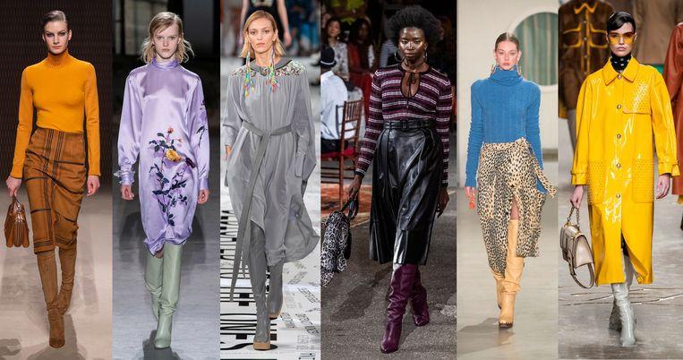Hermès, Dries van Noten, Stella McCartney, Tommy Hilfiger, Jacquemus en Fendi. Beeld Imaxtree.
