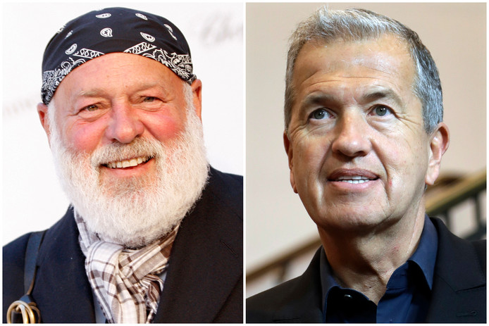 Fotografen Bruce Weber (links) en Mario Testino worden beschuldigd van seksueel misbruik.