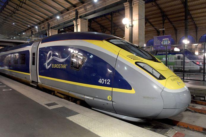 Een Eurostar in het Gare du Nord in Parijs