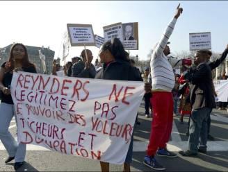 Congolezen betogen tegen Congoreis Reynders