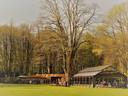 Vanuit het mooie station vertrekken de stoomtreintjes in het Turhoutse stadspark