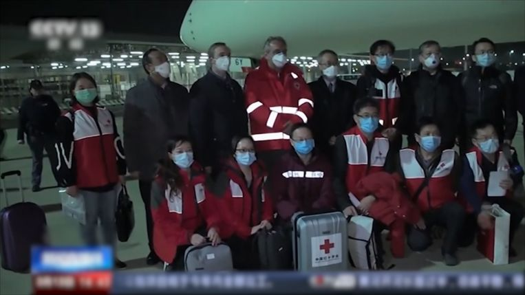 Het negenkoppig team bestaat uit intensive care-artsen, kinderdokters en verpleegsters.