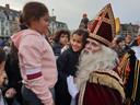 De aankomst van Sinterklaas aan de Nieuwe Kaai in Turnhout
