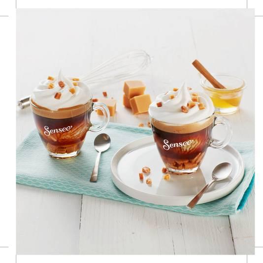 Romige koffie caramel