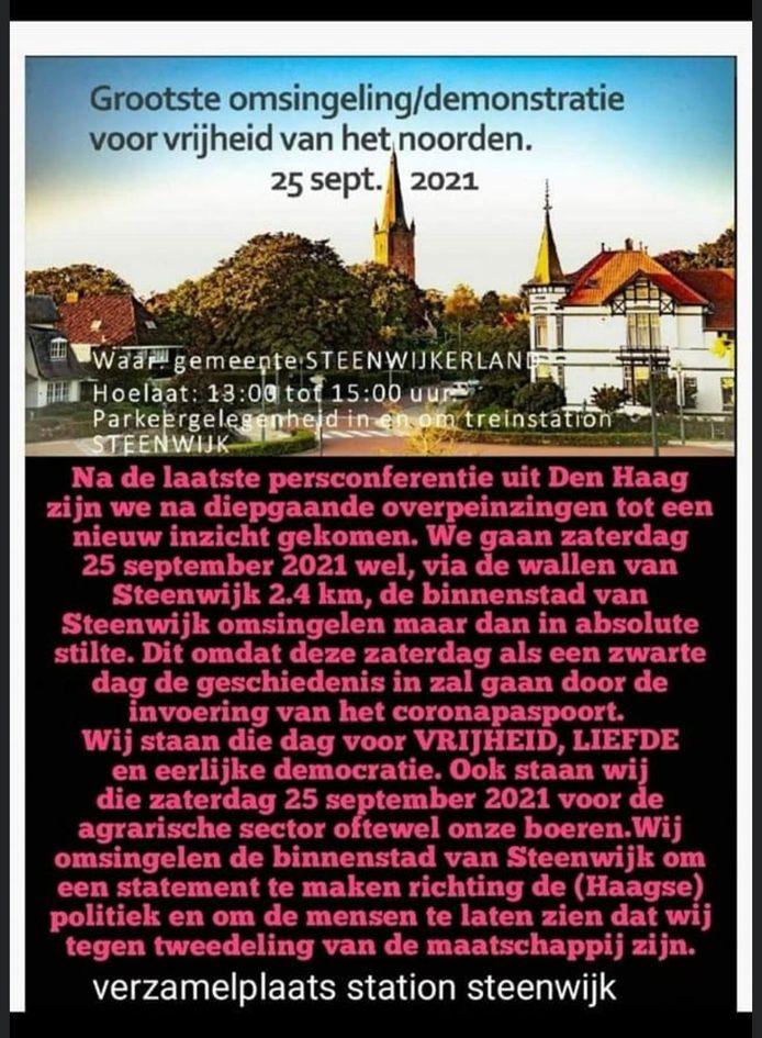 De aangekondigde 'omsingeling' van Steenwijk.