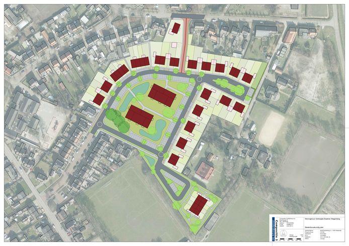 Ontwerp Verlengde Elsakker door Compositie 5 stedenbouw, in opdracht van VOF Brabander en KlokGroep