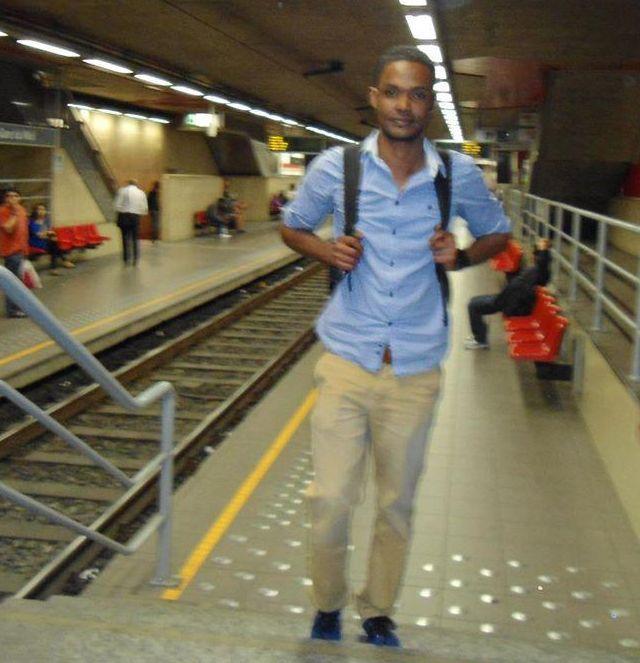 Haashi A. enige tijd geleden in de Brusselse metro.