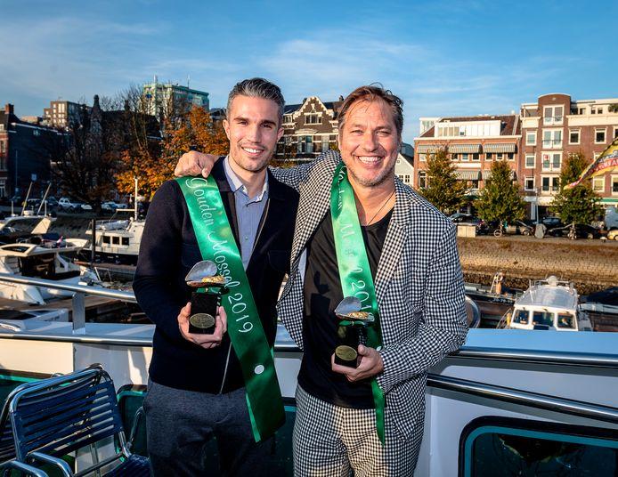 Uitreiking Gouden Mossel 2019, Robin van Persie en Sander de Kramer