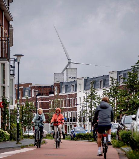 Schoorsteen wijkt voor windmolen, bewoners in Nijmegen-West vrezen geluidsoverlast: 'Afzichtelijk ding'