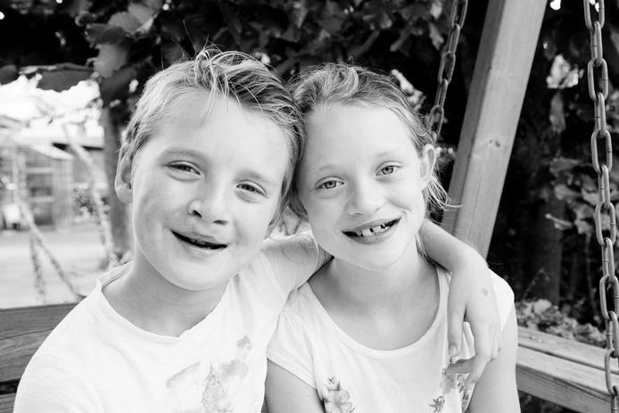 Loet en Caatje in 2017, toen 10 en 12 jaar oud.