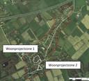 De twee woonprojectzones in Zevergem.