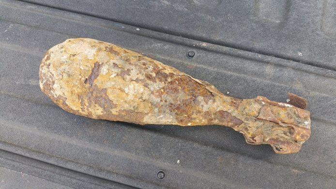 De granaat werd in Schijndel aangetroffen.