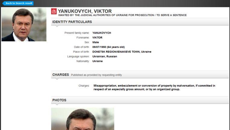 Screenshot van het opsporingsbevel. Beeld Interpol
