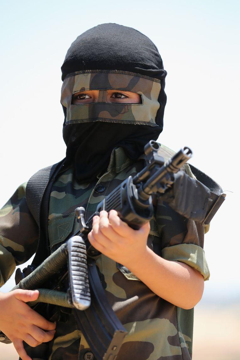 Militair machtsvertoon op de grens met Israël, juni 2015. Beeld Getty