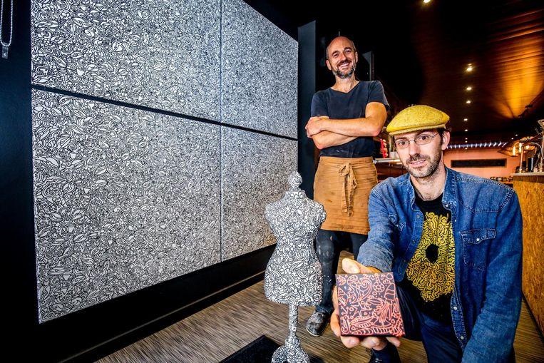 Enkele werken van kunstenaar David Maertens zijn te zien in Huis Avalanche, de bakkerij van Peter Bossier.