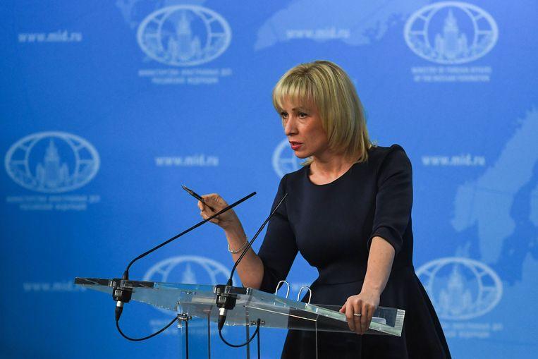 Maria Zakharova, woordvoerster van het Russische ministerie van Buitenlandse Zaken, roept op tot kalmte in het conflict rond Syrië.