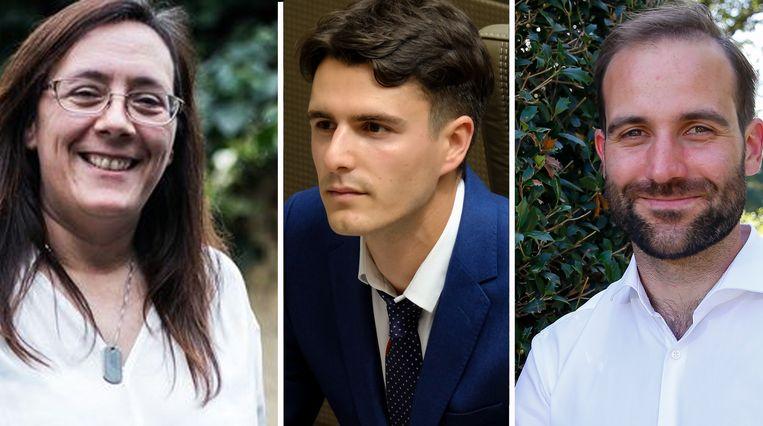 Christ'l Van der Paal, Conner Rousseau en Hannes De Reu zijn de drie kandidaten om John Crombez op te volgen als sp.a-voorzitter.