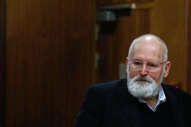 Frans Timmermans: 'We hebben zo ontzettend weinig tijd.' Beeld Hollandse Hoogte / AFP