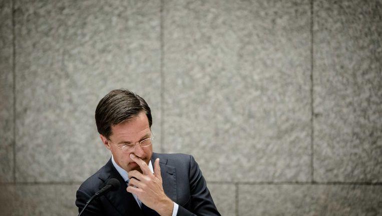 Premier Rutte in de Tweede Kamer. Beeld anp