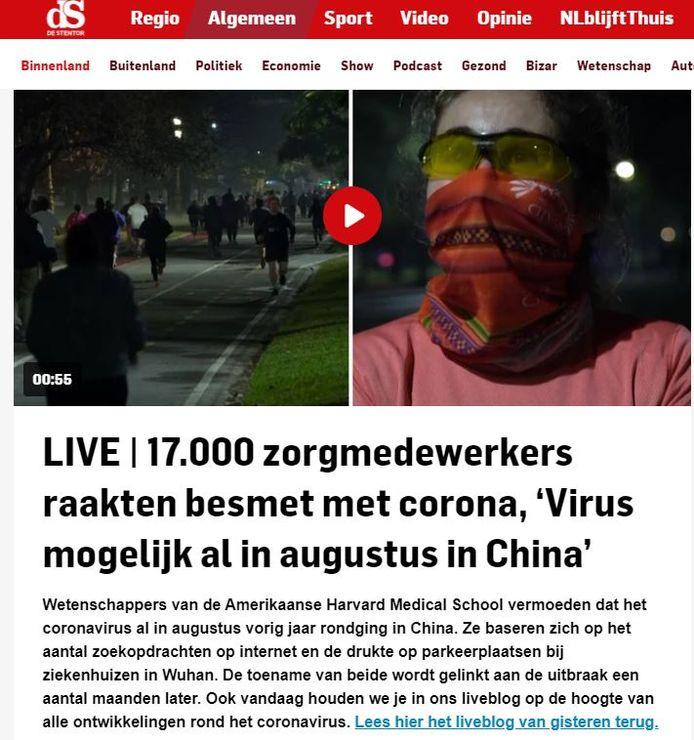 Screenshot liveblog de Stentor