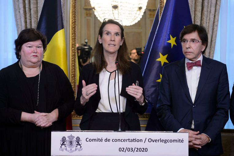 Op 2 maart roept Wilmès alle minister-presidenten en de ministers van Volksgezondheid samen. Haar plan is om dat vanaf dan elke week te doen. Beeld Photo News