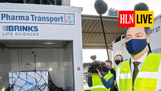 """LIVE. De Croo: """"Brussels Airport wordt echte draaischijf voor import en export van vaccins"""" - Daling coronabesmettingen stokt in Nederland"""