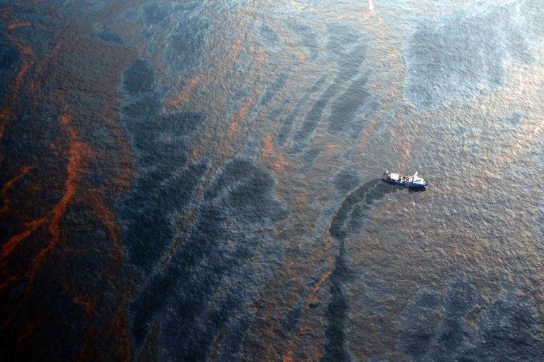 Olielozingen: 1.000 ton olie loosden tankers in 2020 in de oceaan.  Beeld Getty Images
