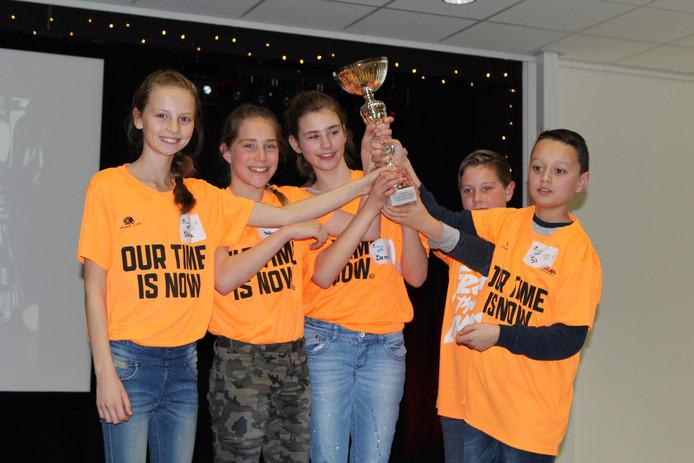 De winnaar van de eerste debatwedstrijd voor basisscholen: IKC Prins Claus.
