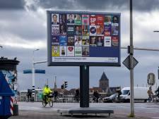 Politiek maakt plaats voor zwerfvuil op verkiezingsborden in Kampen