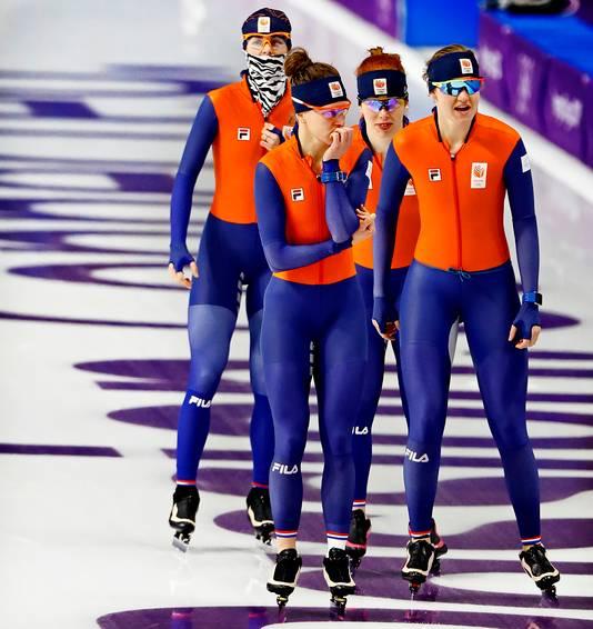 De achtervolgingsploeg zette een olympisch record neer in de kwalificatie.
