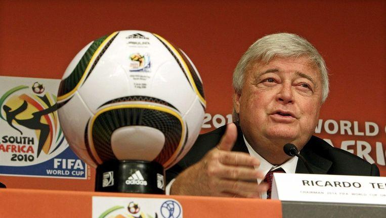 Ricardo Teixeira tijdens het WK voetbal van 2010 in Zuid-Afrika. Beeld epa