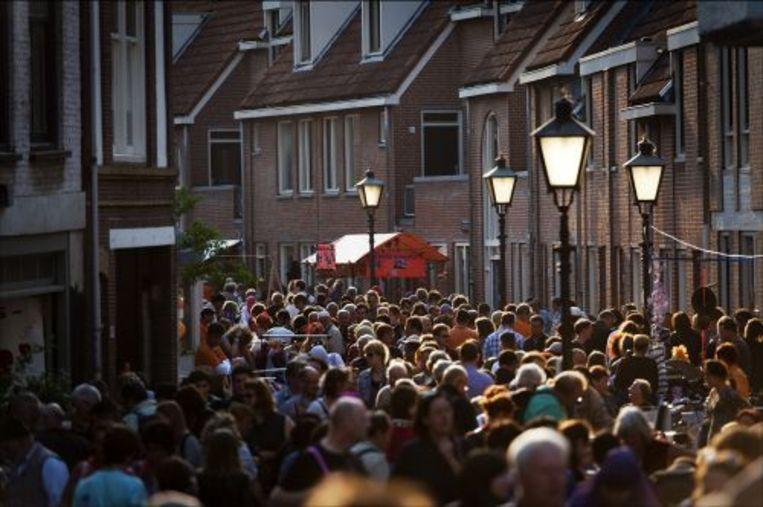 Utrecht aan de vooravond van Koninginnedag. ANP Beeld