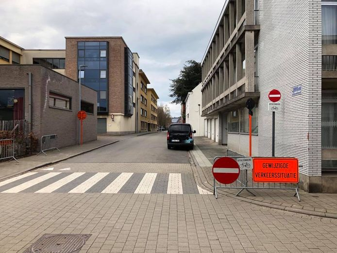 De rijrichting in de Sint-Jorisstraat is omgedraaid.