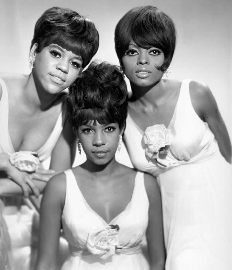 The Supremes, met van links naar rechts Florence Ballard, Mary Wilson en Diana Ross Beeld Getty Images