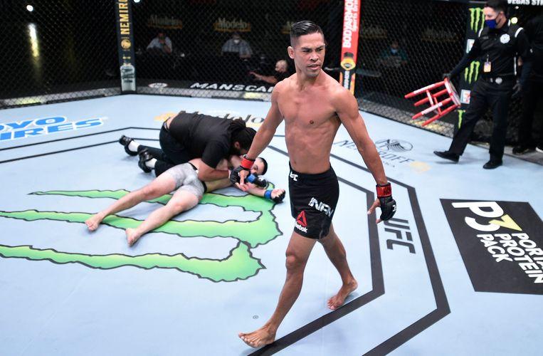 Tyson Nam heeft de Oezbeek Zarrukh Adashev zwaar toegetakeld.