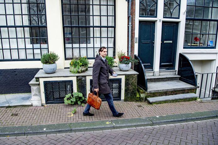 Thierry Baudet dinsdagmiddag in Amsterdam.