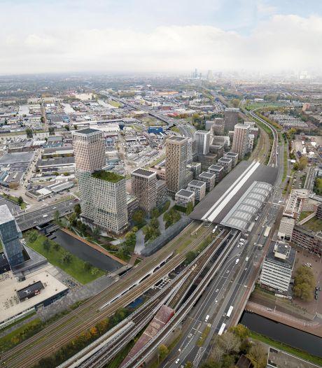 Nieuwe woonwijk en luxe hotel tussen station Schiedam Centrum en de A20
