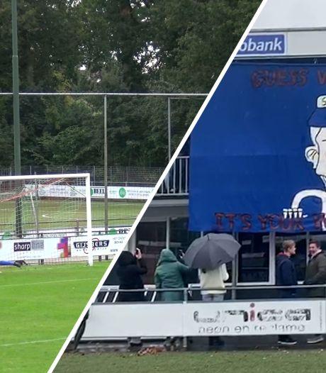 #HéScheids: voorzitter Bon Boys vervangt grensrechter, metersgroot spandoek bij SV De Lutte